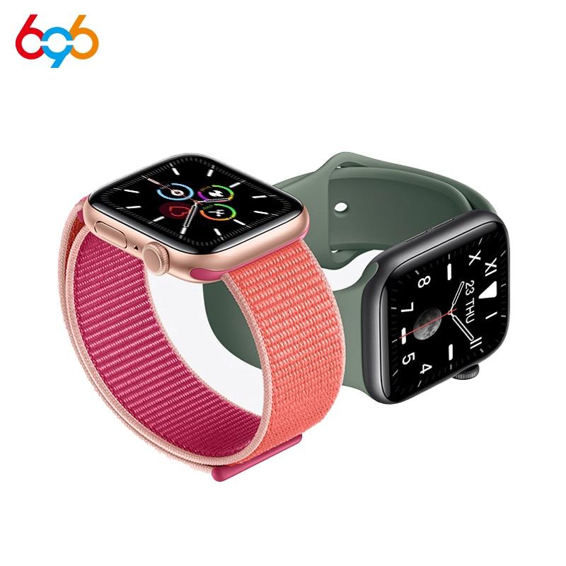 X6 Smart Watch Women Men Series 5 Full Touch Screen Fitness Tracker Heart Rate Blood Pressure Monitor Smartwatch VS W58 IWO 12