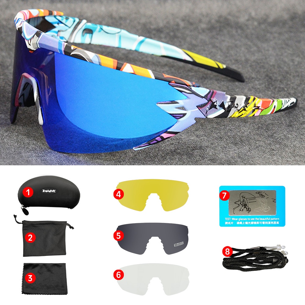 Top Brand New Design Mtb Road Bike Glasses TR90 Outdoor Sports Sunglasses Men Cycling Eyewear Polarized UV400 Cycling Glasses title=