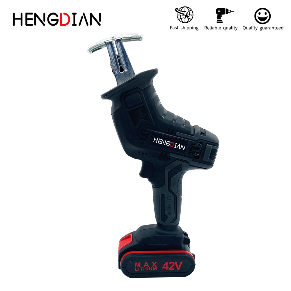 21V Reciprocating Saw with Battery Cordless Portable Electric Saw Battery Charging Blades Wood Metal Chain Saws Cutting Tool