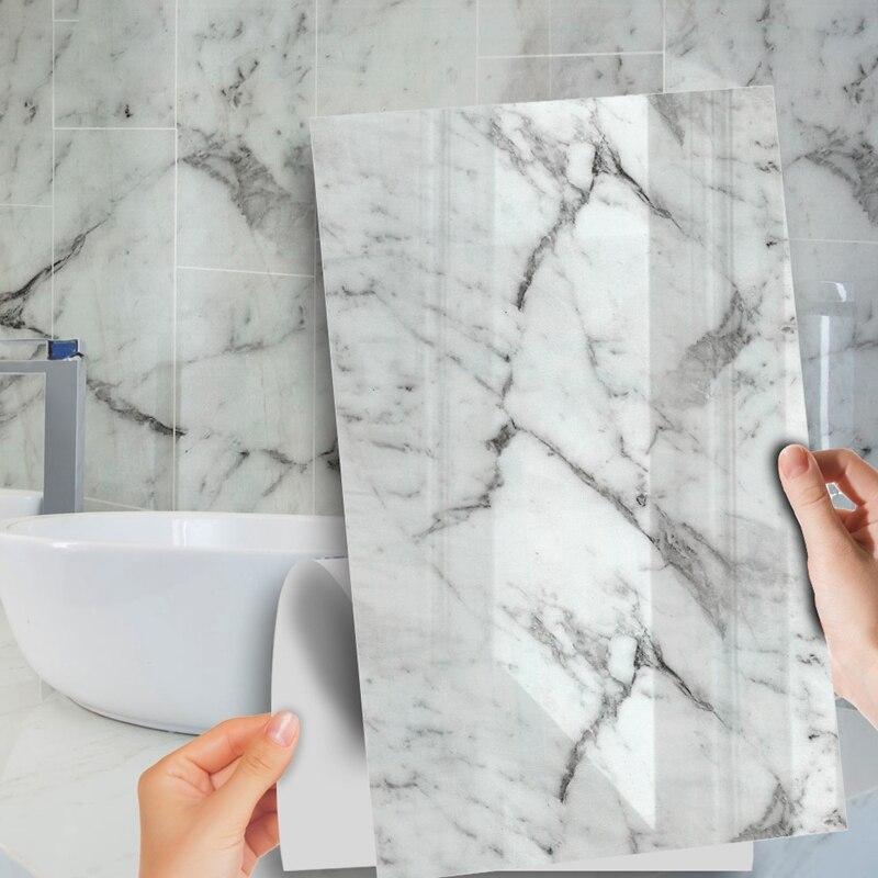 2 uds. Pegatina de pared de mármol de imitación impermeable PVC adhesivo para la decoración del hogar de muebles de baño de cocina 30x60cm Interruptor de luz de vidrio con Panel de cristal de 1 sentido, 1/2/3 entradas estándar UE/RU, interruptor de luz de pared de alta sensibilidad, Interruptor táctil de muro táctil de 220V