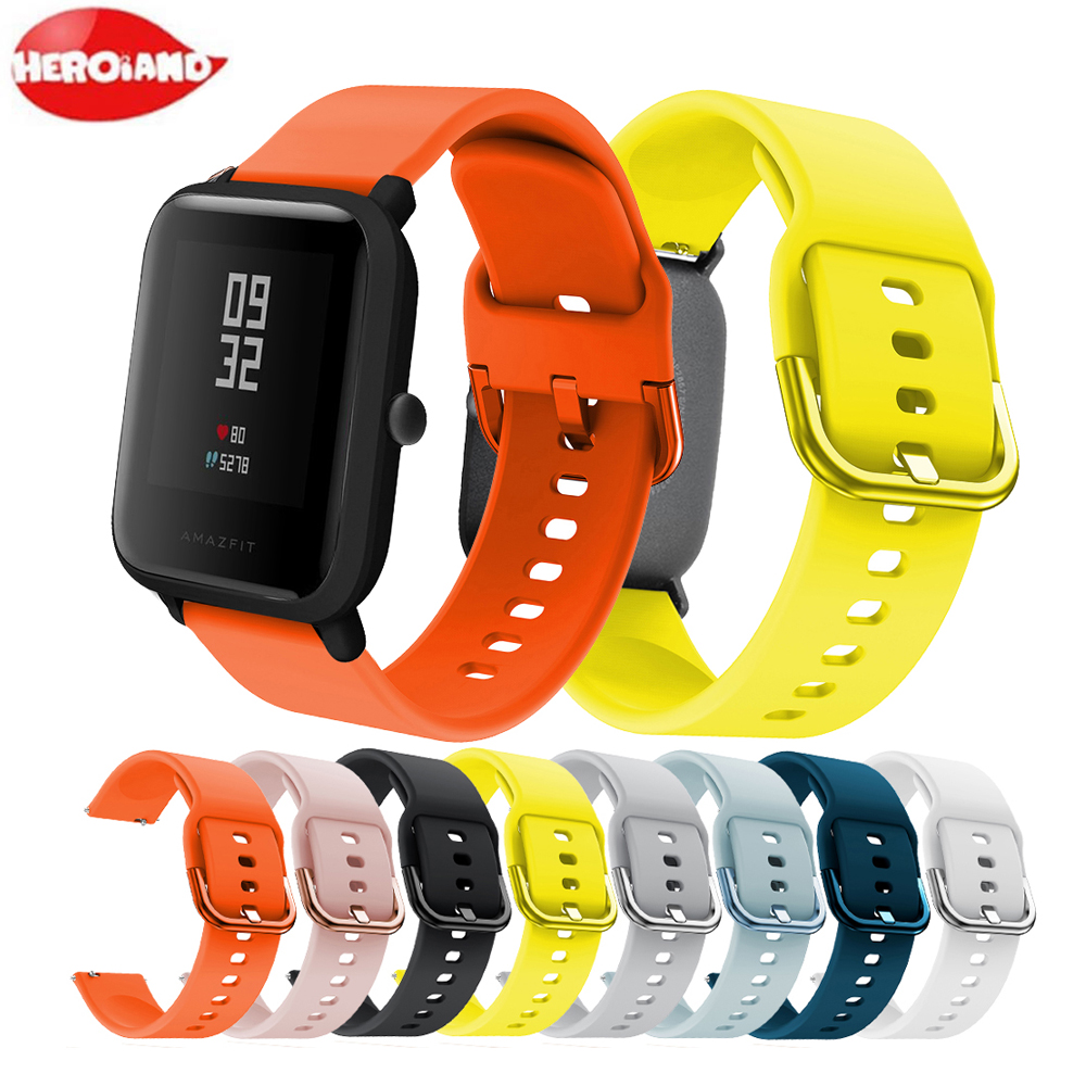 20mm Silicone Strap For Xiaomi Huami Amazfit Bip Smartband Suitable For Amazfit Bip Smart Watch Replacement Bracelet Accessories Smart Accessories Aliexpress