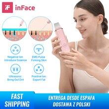 Inface Ultraschall lon Reinigung Gesichts Haut Wäscher Tiefe Gesicht Reinigung Peeling Wiederaufladbare Hautpflege Gerät Schönheit Instrument