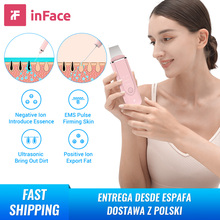 Inface Ultrasonic lon Cleansing Facial Skin Scrubber Deep Face Cleaning Peeling Rechargeable Skin Care Device Beauty Instrument