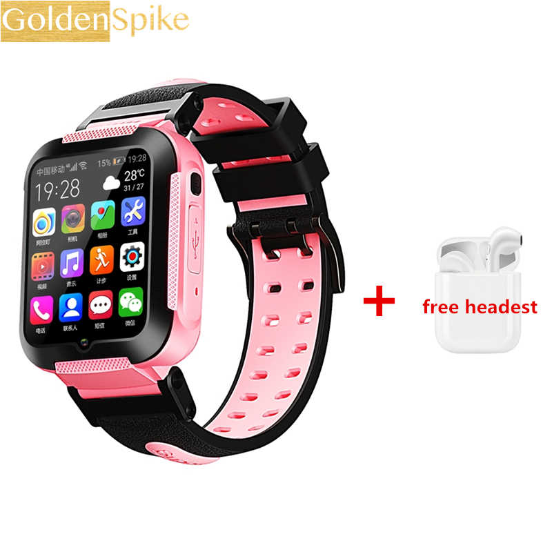 GOLDENSPIKE E7 PK Smart Watch Kids GPS Wifi 750Mah Battery Baby Smartwatch IP67 Waterproof SOS For Children Support Take Video