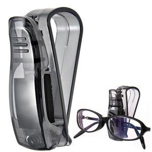 Image 2 - Держатель для очков автомобильные аксессуары держатель для солнцезащитных очков ABS Авто застежка солнцезащитный козырек Чехол для очков держатель для карт