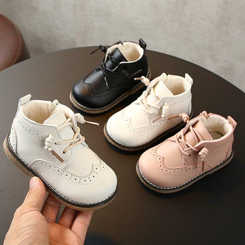 Bottes d'hiver Martin en coton pour enfants | Chaussures de loisirs pour filles de 1 à 3 ans, bottes en cuir à fond souple pour tout-petits