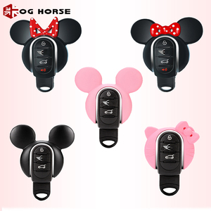 Image 2 - Car Keychain Decoration Fashion Women Key Case Cover Hello Kitty Miky Styling Accessories For MINI Cooper S F54 F55 F56 F57 F60