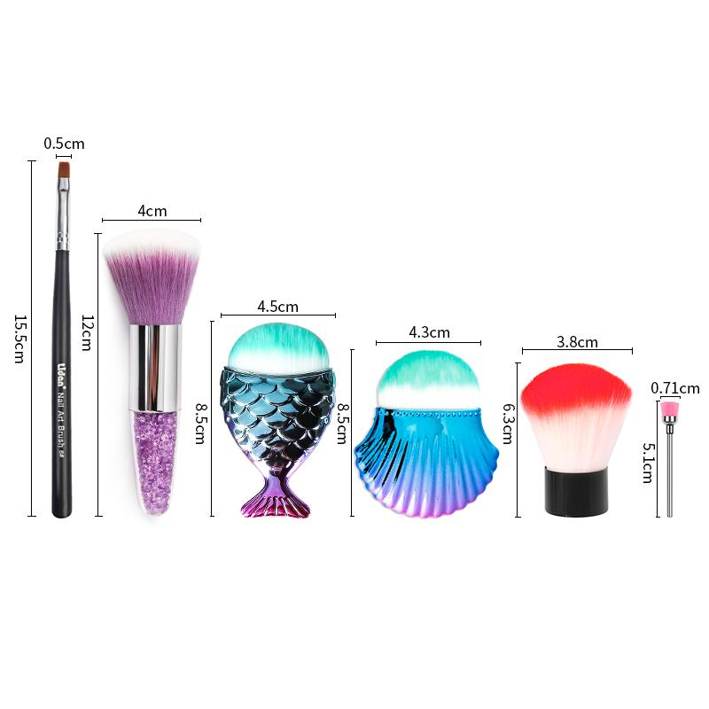 Fish Brush Makeup Tools Kit Powder Face Blush Brush Professional Mermaid Shape Makeup Brush Foundation Cosmetic nail art tool