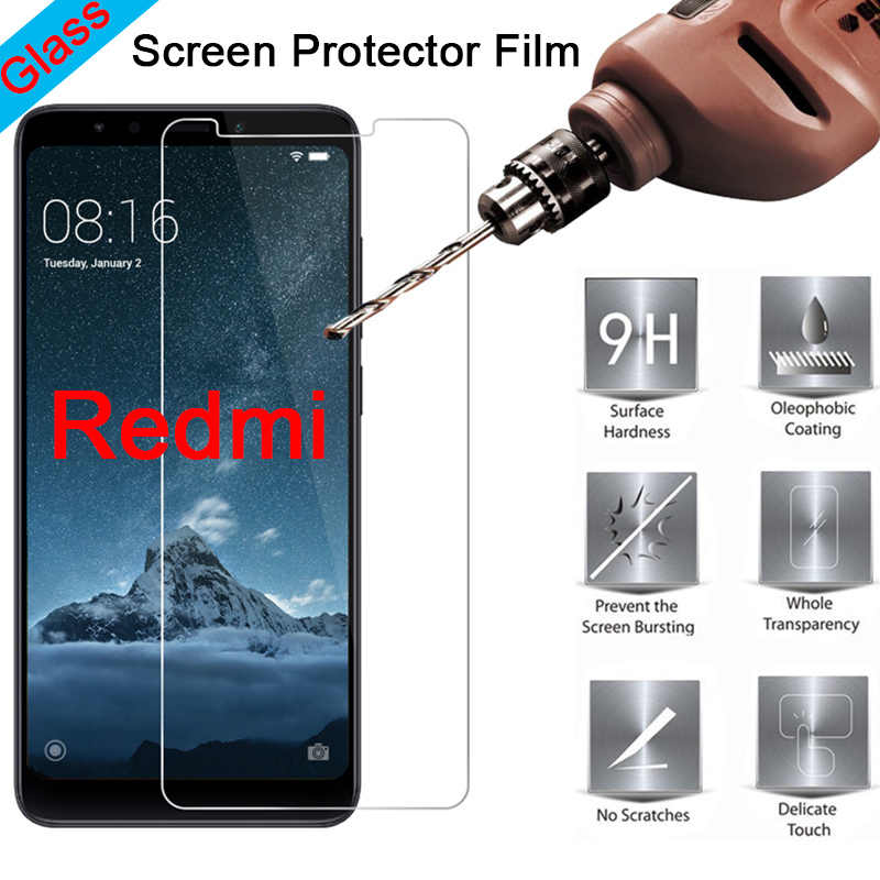 Tempered Film 9H HD Toughed Screen Protector for Redmi 7 6 4 3 Pro Protective Glass on Xiaomi Redmi 3X 3S S2 2