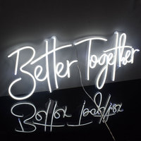 Custom Flex Led Cool Light 12V Better Together Acrylic Neon Sign Home Room Decoration Ins Party Wedding