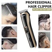 Kemei barbeiro máquina de cortar cabelo dos homens mini poderoso aparador cabelo elétrico ferramenta estilo aço carbono cabeça corte KM-418