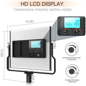 Image 2 - Travor Dimmable Bi color 2set LED Video Light Kit with U Bracket 3200K 5600K CRI96 and Bag for Studio Photography Video Shooting