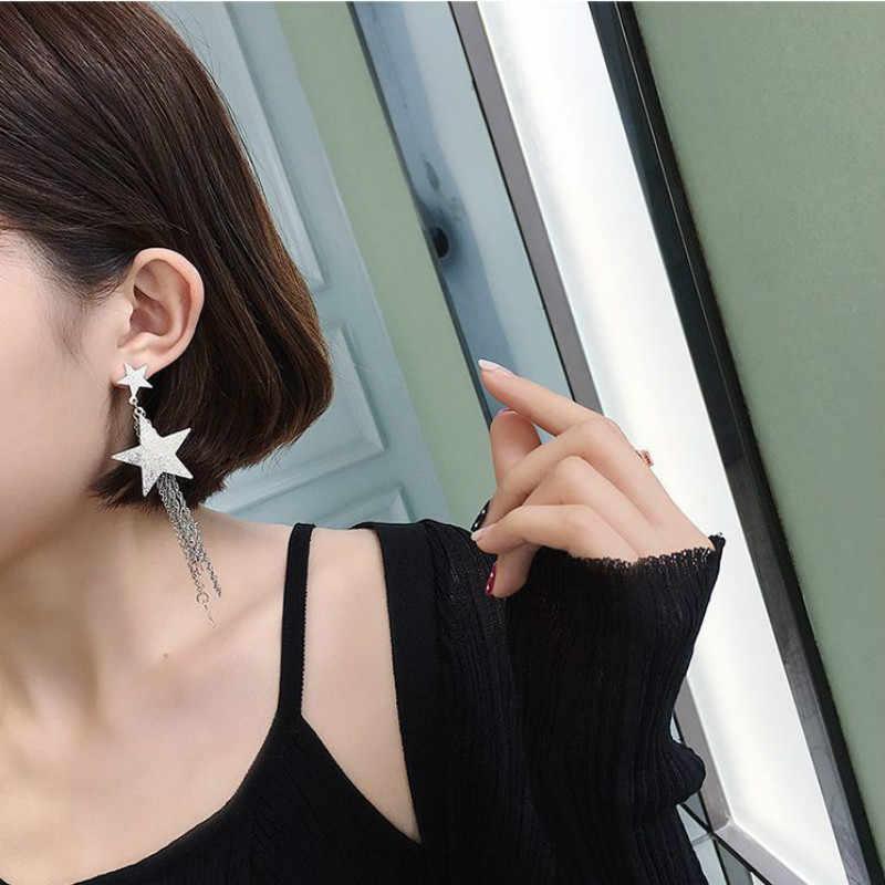 New Fashion Long Earrings Gold Silver Color Tassel Earrings High Quality Earrings Fashion Jewelry For Women Best Gift Kolczyki