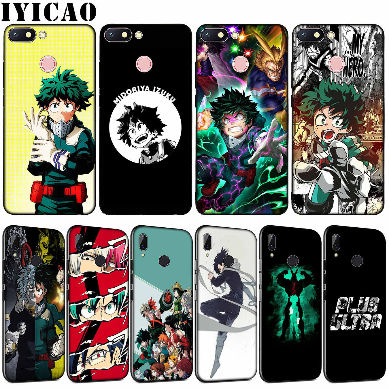 Iyicao Mijn Hero Academy Anime Soft Tpu Siliconen Telefoon Case Voor Xiaomi Redmi Note 8 8A 8T 7 7A 6 6A 5 5A Gaan S2 K30 K20 Pro Cover