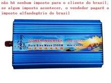 Pure Sine Wave Power Inverter 2500W DC12V/24V/48V to AC120V/220V 50HZ/60HZ digital display цена