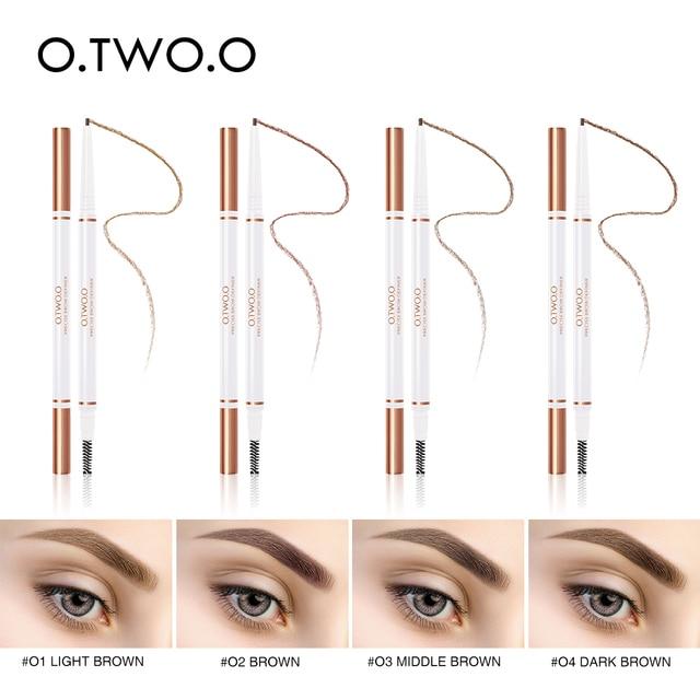 O.TWO.O 3pcs Eyes Makeup Set Ultra Fine 1.5mm Eyebrow Lengthening Mascara Long Lasting Waterproof Eyeliner Cosmetic Kit 5