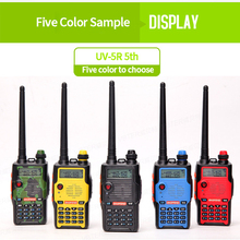 Baofeng UV-5R 5th Generation talkie walkie 136-174/400-520mHZ Two Way Radio Professional FM radio comunicador 5 colors 1pcs