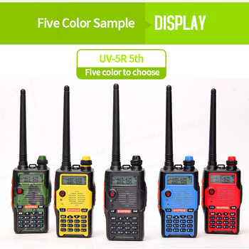 Baofeng UV-5R 5th Generation talkie walkie 136-174/400-520mHZ Two Way Radio Professional FM radio comunicador 5 colors 1pcs - DISCOUNT ITEM  40% OFF All Category