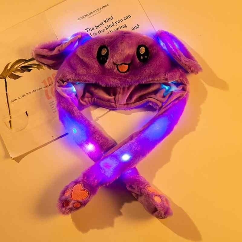 Juguete de los niños de arriba abajo sombrero de conejo en movimiento luminoso bolsa de aire juguete sombrero agitar Orejas de conejo divertido juego juguete regalo juguete luminoso