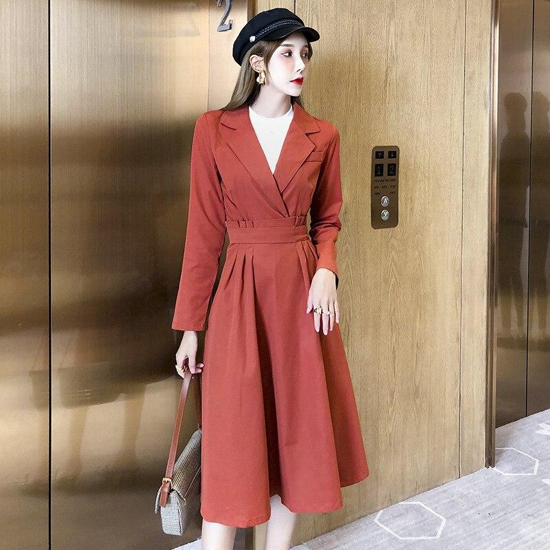 Photo Shoot Korean-style Elegant Double Purpose Suit WOMEN'S Suit 2019 New Style Flounced Slimming Skirt Two-Piece Set