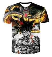 Nuevo Dragon Ball Z camisetas hombres verano 3D impresión Super Saiyan Goku negro Zamasu Vegeta Dragonball camiseta Casual tops Tee
