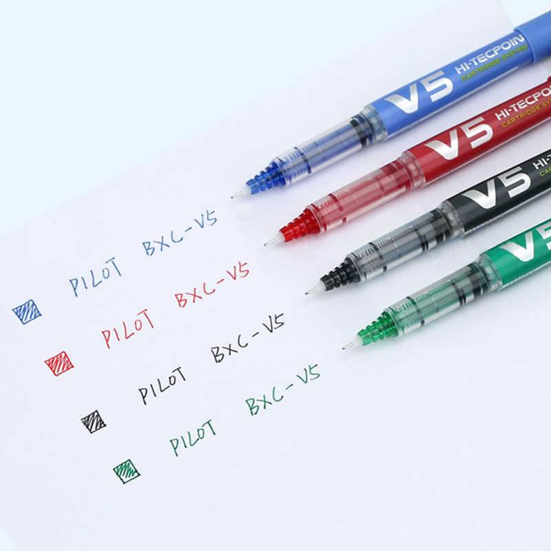 12 sztuk japonia Pilot HI-TECPOINT długopis żelowy BXC-V5/V7 0.5mm/0.7mm może zastąpić wkład atramentowy igły bardzo cienkie punkt cieczy biuro