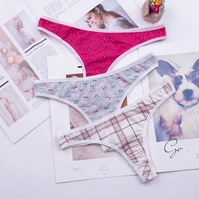 Cotton thong women's panties