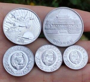 Одна звезда 5 шт. в комплекте из Северной Кореи 1959-1978 ,100% настоящая памятная монета, оригинальная коллекция
