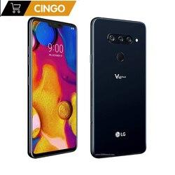 Оригинальный LG V40 ThinQ 6,4 дюймов 6 ГБ ОЗУ Android Восьмиядерный двойная фронтальная 3 задняя камера смартфон со сканером отпечатка пальца V405UA/V409N/...