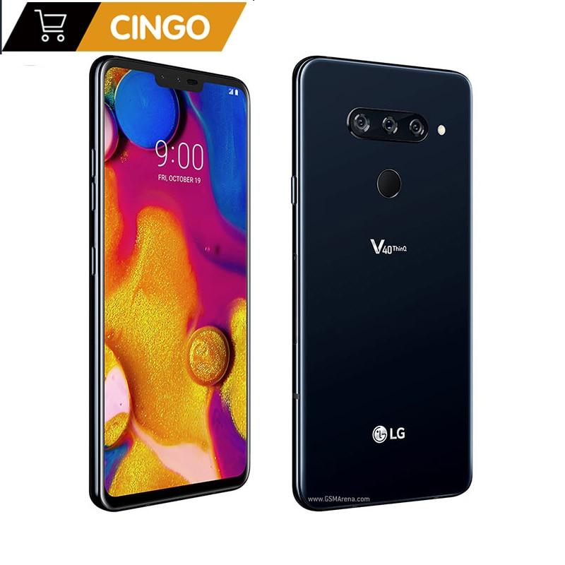 "Original LG V40 ThinQ 6.4"" 6GB RAM Android Octa Core dual front 3 rear Cameras Fingerprint SmartPhone V405UA/V409N/V405EBW|Cellphones| - AliExpress"