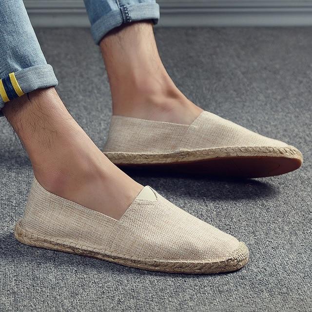 Canvas Shoes Hemp Lazy Flats