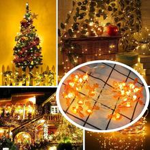 Креатив Рождество 20 светодиодов подвес украшения свет шнур тематический Санта олень снеговик подвеска освещение украшения