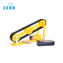 SZ STEAM DIY kids Science Experiment Electric Science Model Kits physics technology toys Conveyor Belt STEM Educational toys smart diy vacuum cleaner experiment science kids early development toys classic traditional science educational learning toy