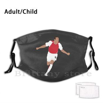 Thierry Henry Euro Club Adult Kids Pm2.5 Filter Diy Mask Henry Henry Art Henry Footballers Sportman Henry Henry image