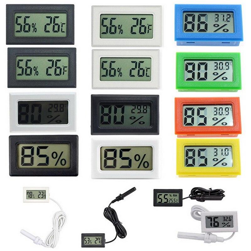 Мини термометром и гигрометром декоративные часы электронные встроенной цифровой термометр датчик влажности термометр влажности электро...