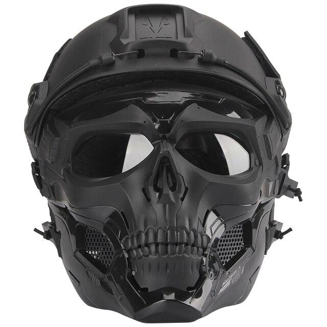 Bulletproof Helmet Bullet Proof Skull Mask  Lightweight Military Tactical Bulletproof Helmet Tactical Painball Riding 5