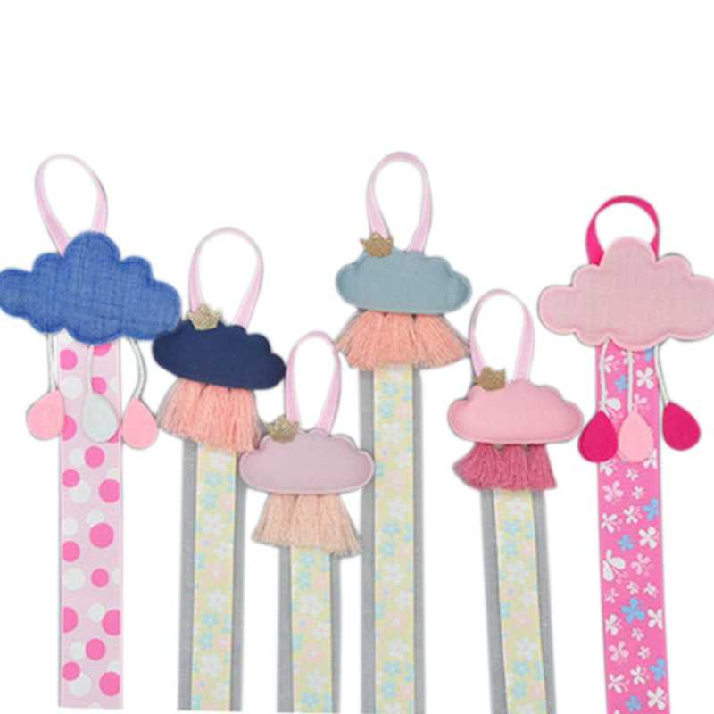Girls Baby Ribbon Hanging Hair Bow Headband Clip Organizer Cloud Tassels Holder