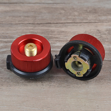 Camping Gas Tank Adapter Auto-off Outdoor Stove Split Head Portable Converter