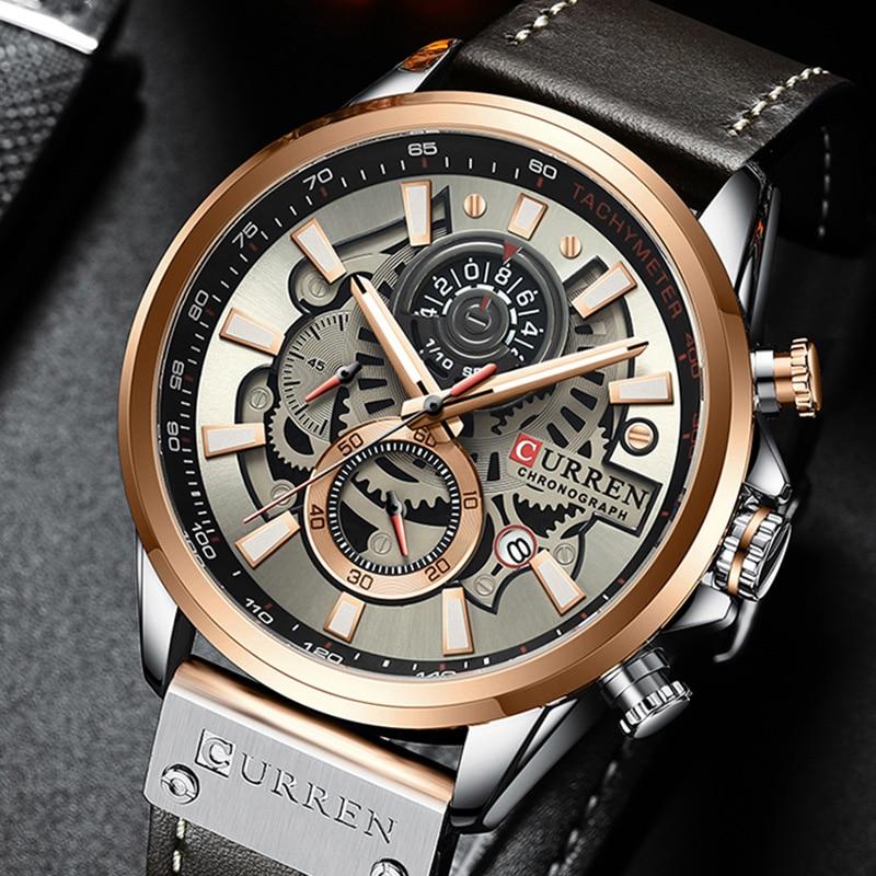 Купить часы хронограф curren мужские кварцевые креативные брендовые