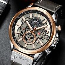 Часы хронограф curren Мужские кварцевые креативные брендовые