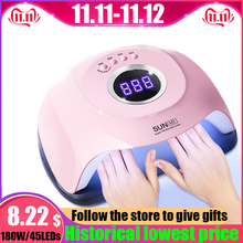 SUN M3 180W Nail Dryer UV LED Nail Lamp LCD Display Hybrid LEDs Dryer Lamp for Curing Gel Polish Nail Manicure Tools