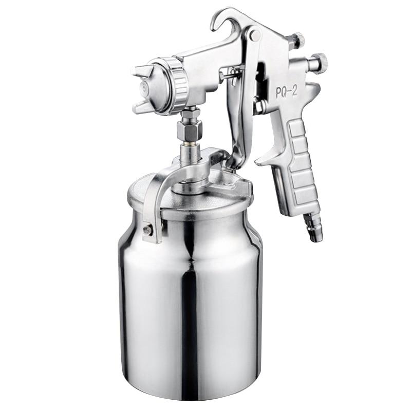 PQ-2 Spray Tool Suction Feed Paint Spray Gun Sprayer 1L Pot Air Nozzle 2mm Fit 1/4