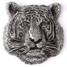 Тигр головы ремня Пряжки металла глава пояс DIY материал животного