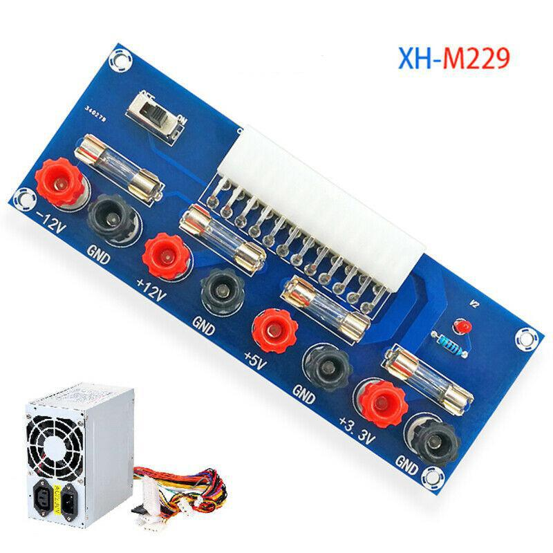 XH-M229 Desktop PC Power ATX Transfer Board Supply Power Module Precise 24Pin(Blue)