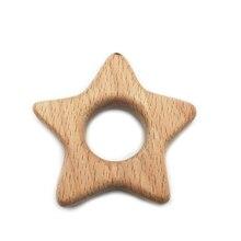 Натуральное детское дерево Прорезыватель в форме животных деревянные бусины DIY Детский кулон игрушки милые Прорезыватели для прорезывания зубов аксессуары