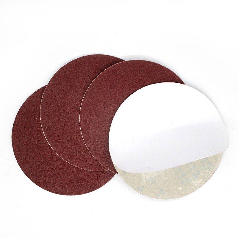 6-Inch 150 Mm Round Plates Burkina Gum Red Sand Dry Grinding Gauze Coarse Grinding Adhesive Sticker Sandpaper Angle Grinder Poli