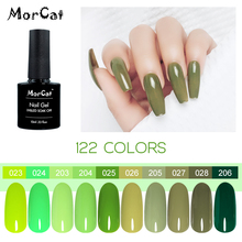 MorCat Gel Nail Polish Green Series Color UV Oliver-Yellow Lacquer Art Design Soak Off 10ml
