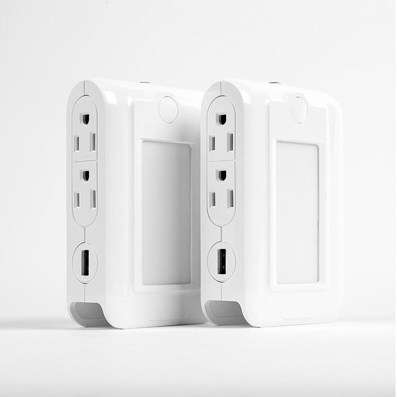 US Standard 2.1A USB Wall Socket With Led light control induction night light function For xiao mi Apple charging