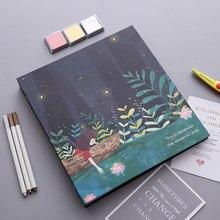 Cubierta de papel PA29 hojas negras o blancas bonitas, álbum de fotos DIY manual, película creativa, cubierta para pegar a los amantes, álbum de fotos romántico