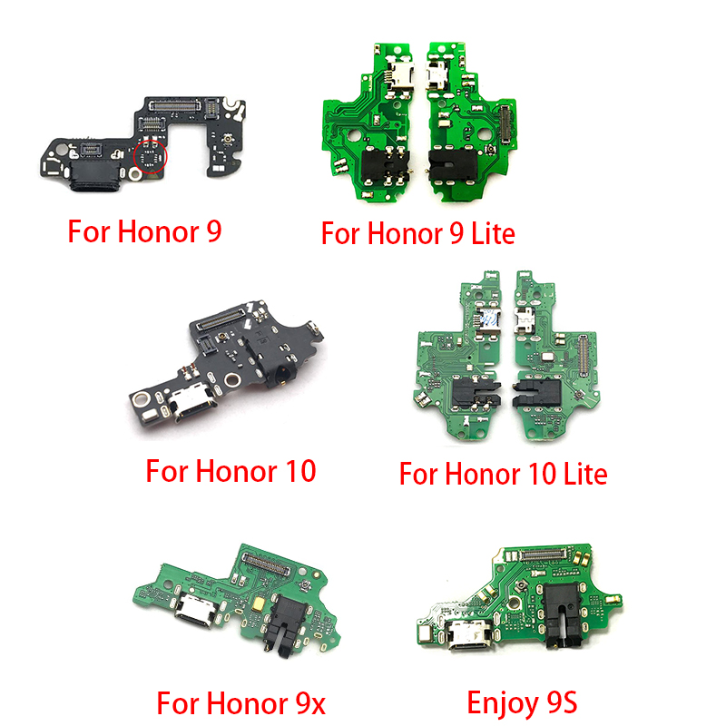 New For Huawei Honor 20 Pro 5A 5X 10 9X 8X Max Play 8C 8 9 Lite 9S USB Charge Port Jack Dock Connector Charging Board Flex Cable